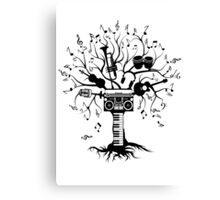 Melody Tree - Dark Silhouette Canvas Print