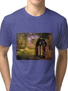 Manor house landscape. Tri-blend T-Shirt