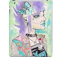 Punk Rock Girl iPad Case/Skin