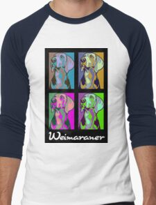 Colourful Weimaraner poster-style T-Shirt