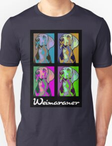 Colourful Weimaraner poster-style Unisex T-Shirt