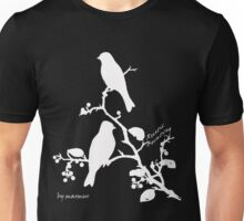 White Rustic Bunting on a branch Unisex T-Shirt