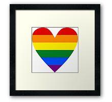 LGBT heart Framed Print