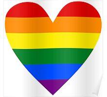 LGBT heart Poster