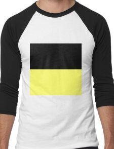 Beautiful Cushions / Collection/ BC Yellow Black Men's Baseball ¾ T-Shirt