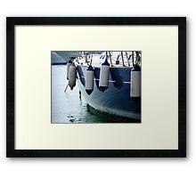 On the waterline........... Framed Print