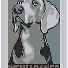 Classic Weimaraner poster-style portrait by nimbus88
