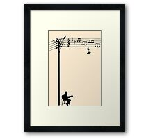 Wired Sound Framed Print