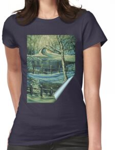 'Winters Freeze - Silent Beauty' Womens Fitted T-Shirt