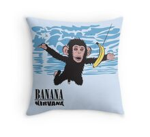 Banana Nirvana Throw Pillow
