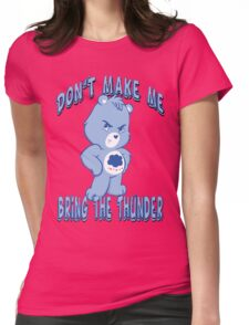Grumpy Care Bear - Bring the Thunder Womens Fitted T-Shirt