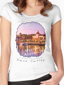 Dave Catley Landscape Photographer - Fine Art T-Shirt (Mindarie Marina) Women's Fitted Scoop T-Shirt