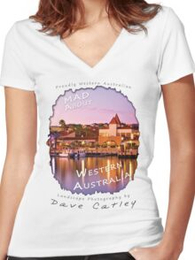 Dave Catley Landscape Photographer - Fine Art T-Shirt (Mindarie Marina) Women's Fitted V-Neck T-Shirt