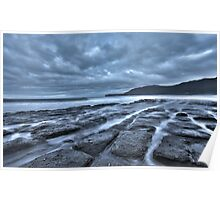 Tessellated Pavement at Dusk Poster
