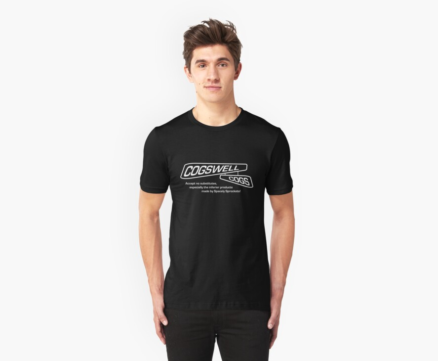 The Jetsons - Cogswell Cogs Company Dark Shirt by G. Patrick Colvin