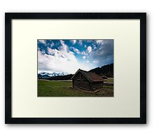 under the Mountains Framed Print