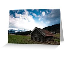 under the Mountains Greeting Card