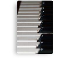 Old Yamaha Organ Keybaord Canvas Print