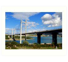 Chalkida Bridge,Evia island Art Print