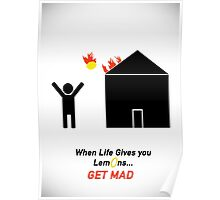 When Life Gives You Lemons, Get Mad - Portal 2 Poster
