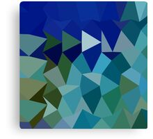 Blue Pigment Abstract Low Polygon Background Canvas Print