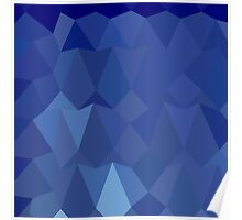 Catalina Blue Abstract Low Polygon Background Poster