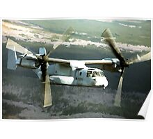 OSPREY V-22 Aircraft digital painting - USAF Marines Poster