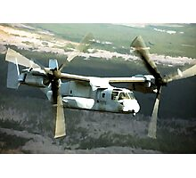 OSPREY V-22 Aircraft digital painting - USAF Marines Photographic Print