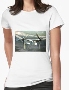 OSPREY V-22 Aircraft digital painting - USAF Marines Womens Fitted T-Shirt
