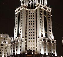 Paveletskaya Tower, Moscow by offwhitedog