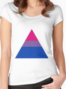 Bisexual triangle flag Women's Fitted Scoop T-Shirt