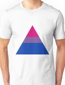Bisexual triangle flag Unisex T-Shirt
