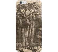 Five Mice in a Mouse Trap Laura Elisabeth Howe Richards and Kate Greenaway 1881 0025 Fluff and Puff iPhone Case/Skin