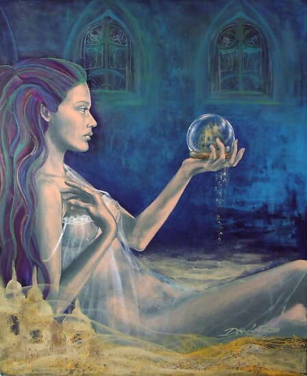 """Sandcastles""  from ""Whispers"" series by dorina costras"