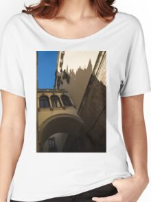 Barcelona's Marvelous Architecture - Shapes and Shadows Women's Relaxed Fit T-Shirt