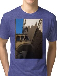 Barcelona's Marvelous Architecture - Shapes and Shadows Tri-blend T-Shirt