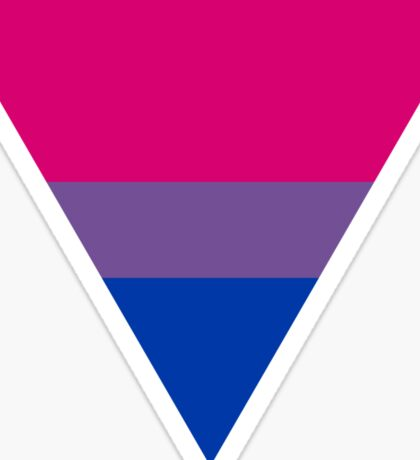 Bisexual triangle flag Sticker