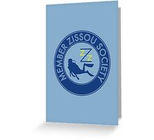 Member Zissou Society (Blue) Greeting Card
