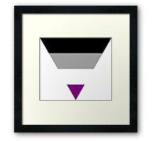 Asexual triangle flag Framed Print