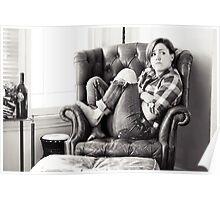 Hannah Hart - Black & White Poster
