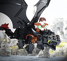 """Lego """"How to train your dragon"""" - Hiccup & Toothless by steinbock"""