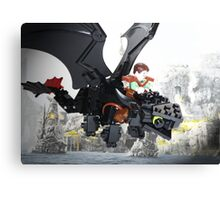 "Lego ""How to train your dragon"" - Hiccup & Toothless Canvas Print"