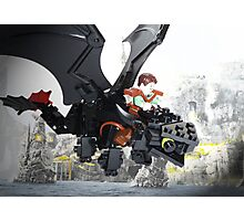 """Lego """"How to train your dragon"""" - Hiccup & Toothless Photographic Print"""