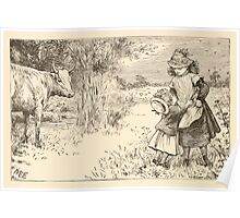 Five Mice in a Mouse Trap Laura Elisabeth Howe Richards and Kate Greenaway 1881 0138 A Cow Looking at Him Poster