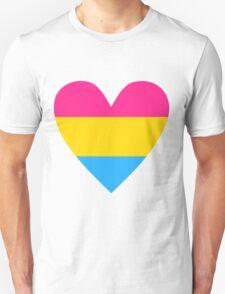 Pansexual heart Unisex T-Shirt