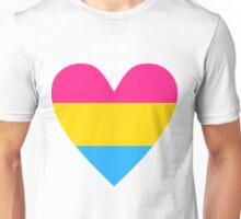 Pansexual heart Unisex T-Shirt