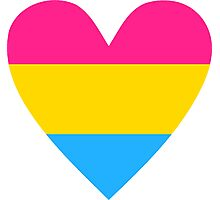 Pansexual heart Photographic Print