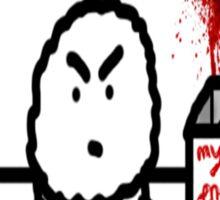The Unhappy Muffin  Sticker