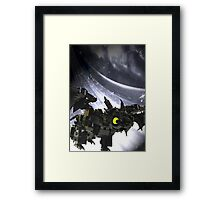 "Lego ""how to train your dragon"" - Toothless Framed Print"