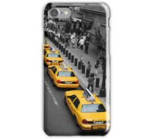 New York Taxis - black, white & yellow iPhone Case/Skin